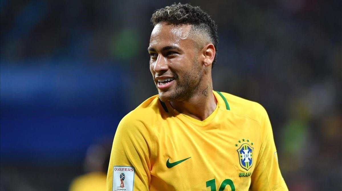 Neymar, en un partido reciente de la selección brasileña.