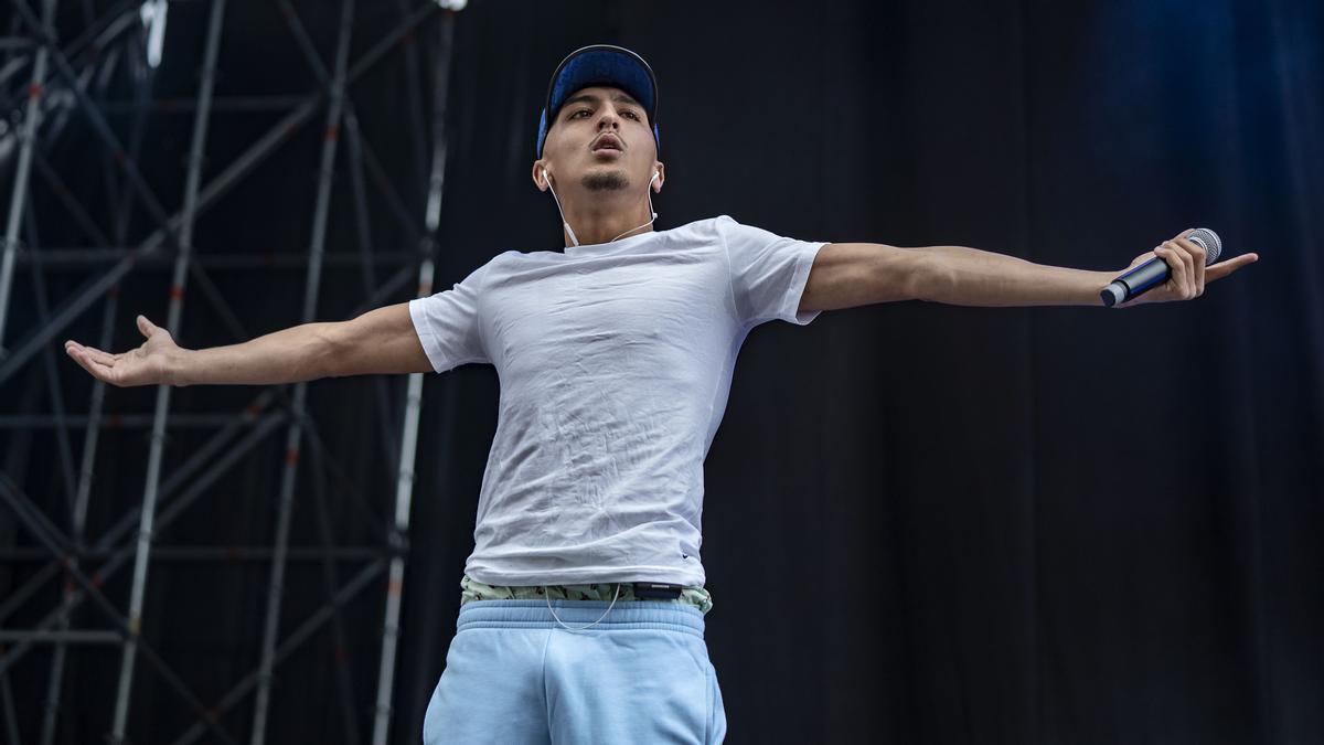 Morad durante su actuación en el Share Festival, este sábado en el Estadi Olímpic