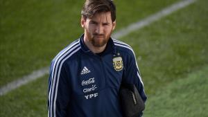 Messi ya se entrena con Argentina