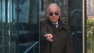 El exnúmero dos de la Policía Eugenio Pino a su salida de la Audiencia Nacional