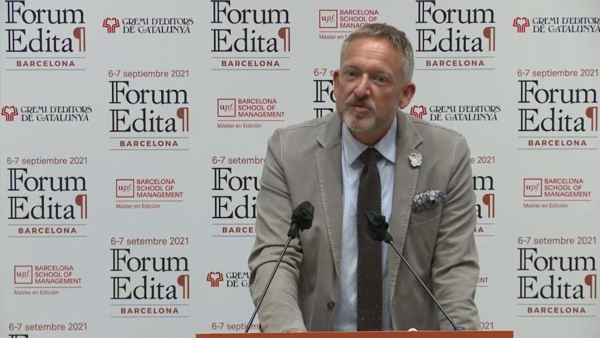 El editor Peter Kraus Vom Cleff, presidente de la Federación de Editores Europeos, en su participación del Forum Edita, este lunes.