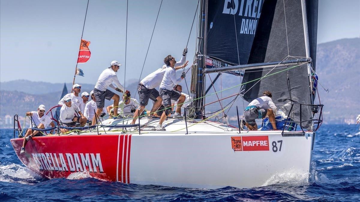 La flota del DK46 Estrella Damm, campeona de la Copa del Rey 2019.