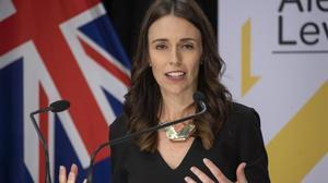 La presidenta neozelandesa, Jacinda Ardern, en una conferencia de prensa.