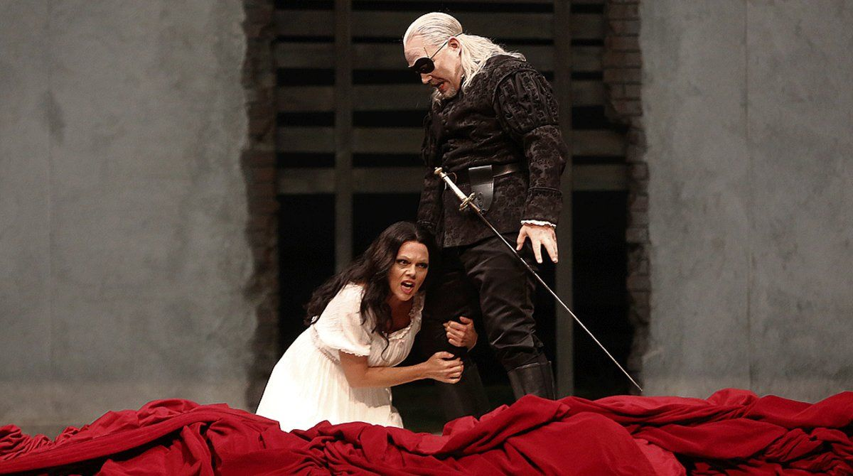 Christopher Maltman y Miah Persson, en un ensayo del 'Don Giovanni' de Mozart que acoge el Liceu.