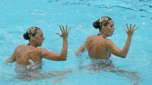 Gemma Mengual y Ona Carbonell, durante la última actuación en Río.