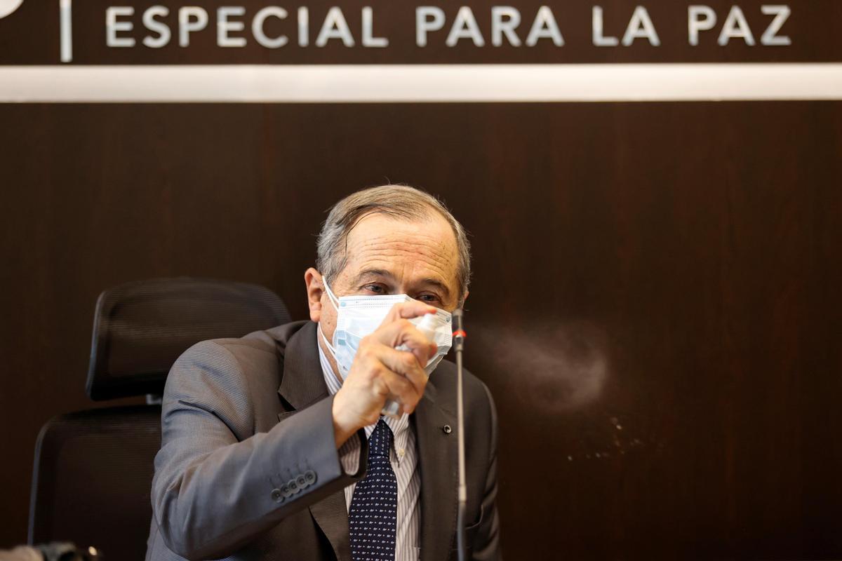 El presidente de la Jurisdicción Especial para la Paz (JEP) de Colombia, el magistrado Eduardo Cifuentes.