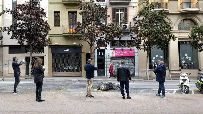 El paseo de Gràcia tras las protestas por Pablo Hasél.