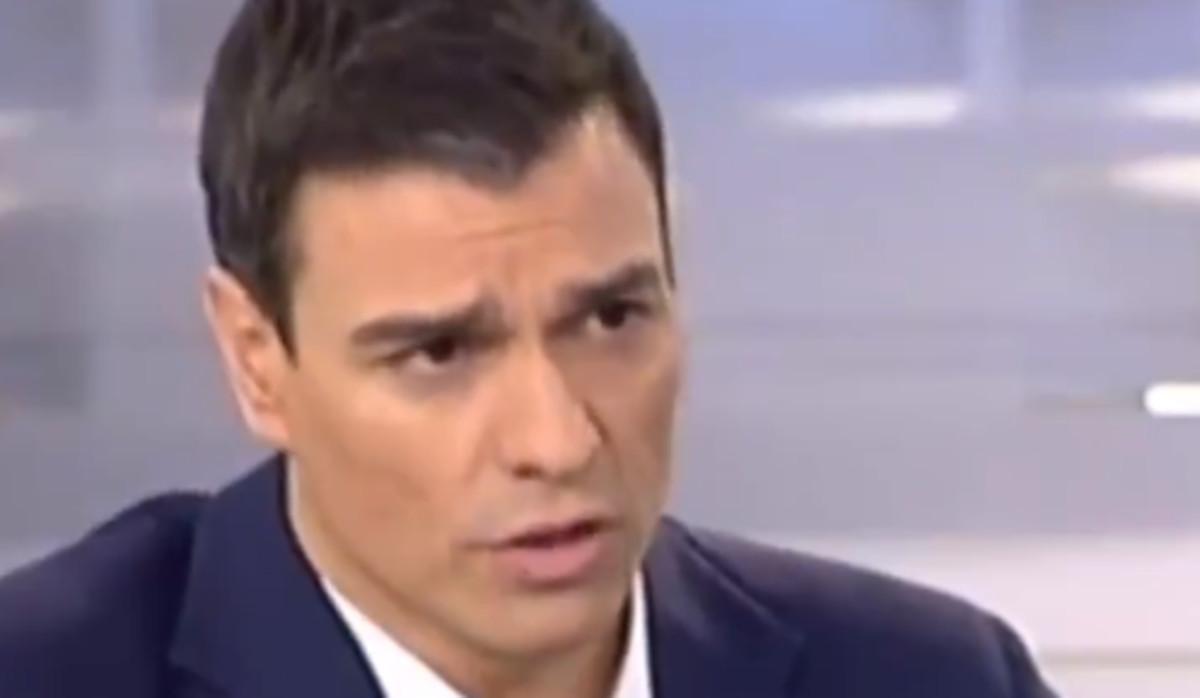 Momento de la entrevista de Sánchez en Tele 5.