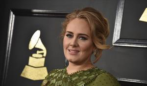 Adele, en los premios Grammy de 2017.