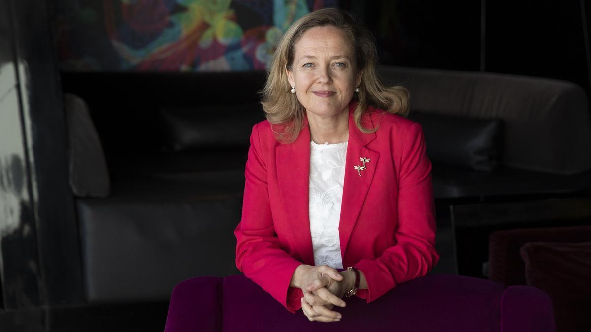 Entrevista con Nadia Calviño , vicepresidenta segunda y ministra de Asuntos Económicos y Transformación Digital.