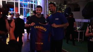 Gerard Piqué y Wilson Chandler, jugador de los Denver Nuggets de la NBA.