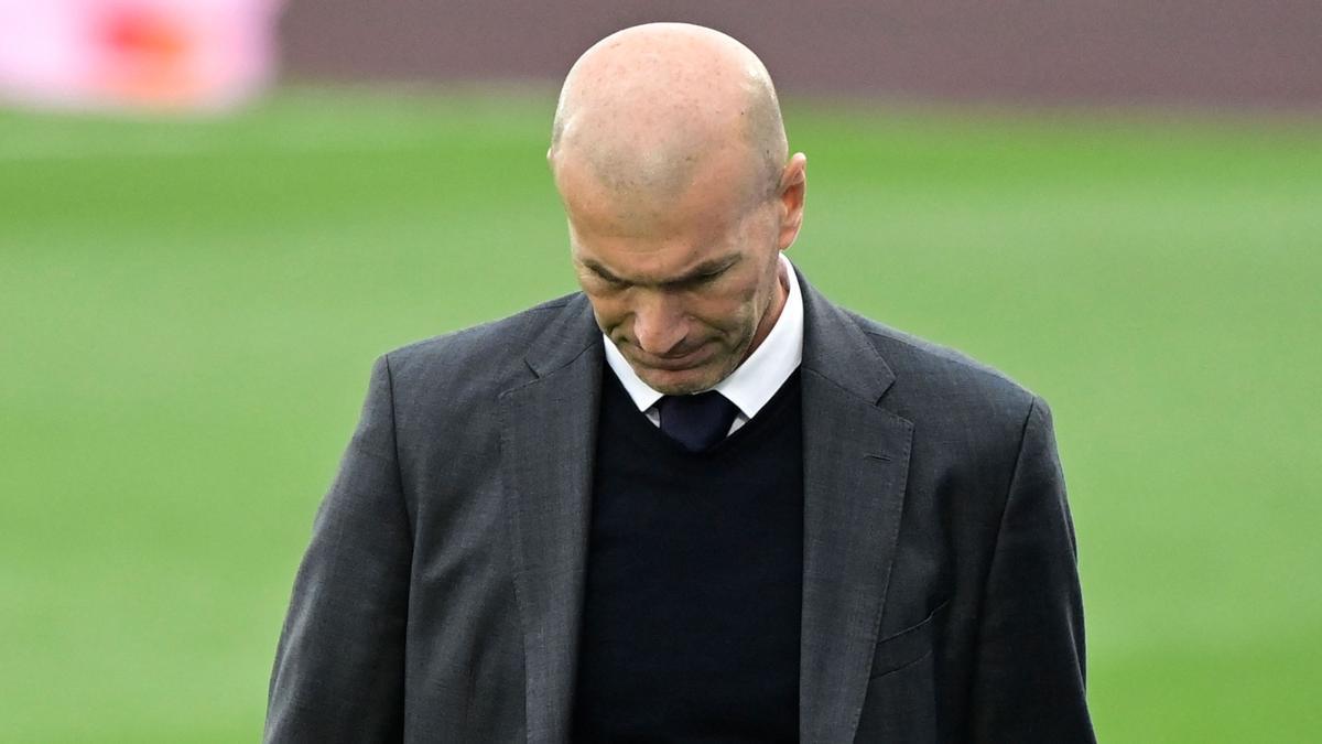 El técnico francés del Real Madrid, Zinedine Zidane.