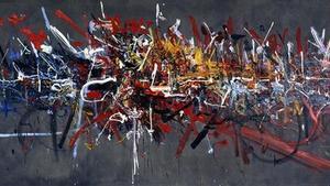 'La Bataille de Hastings' (1956), de Georges Mathieu.