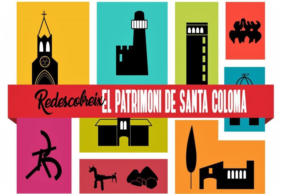 Cartel de la iniciativa para redescubrir el patrimonio de Santa Coloma de Gramenet.