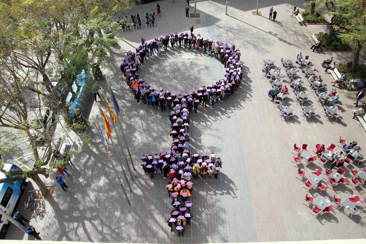 Imagen de un acto del Día de la Mujer en Sant Boi