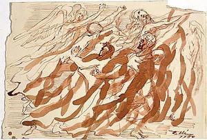 Ilustración de 'La Divina Comedia' de Salvador Dalí. Fundació Dalí