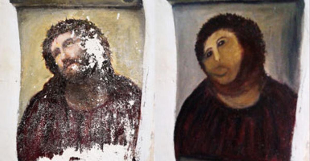 La restauración del Ecce Homo de Borja.
