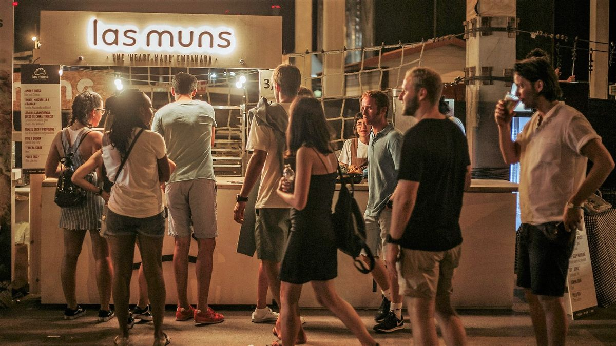 Cola ante el 'food truck' de Les Muns en una edición anterior del festival Cruïlla.