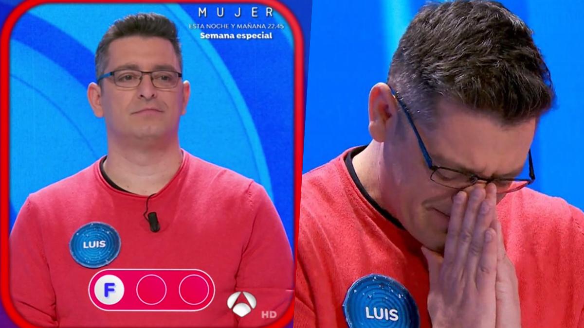 Luis de Lama, eliminado de 'Pasapalabra'.