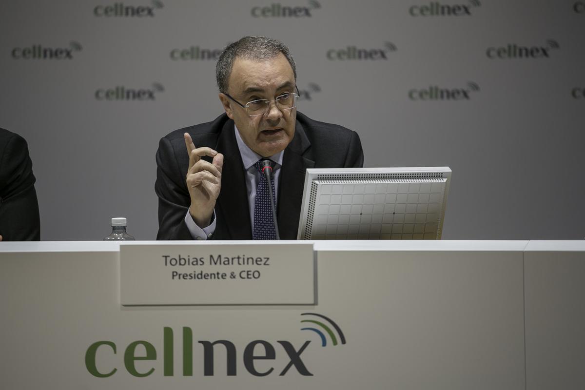 El presidente de Cellnex, Tobías Martínez, en una foto de archivo.