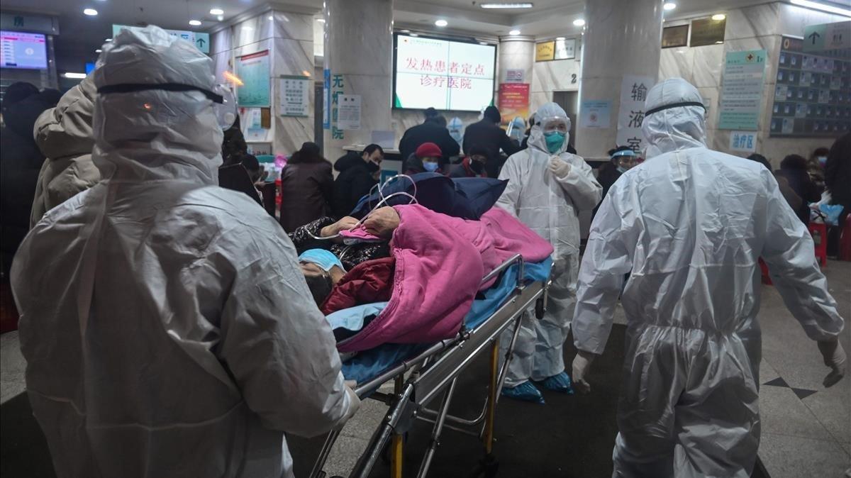 Imagen tomada el 25 de enero de un hospital en Wuhan, donde se originó la pandemia, cuando solo se habían reportado 54 casos en China.