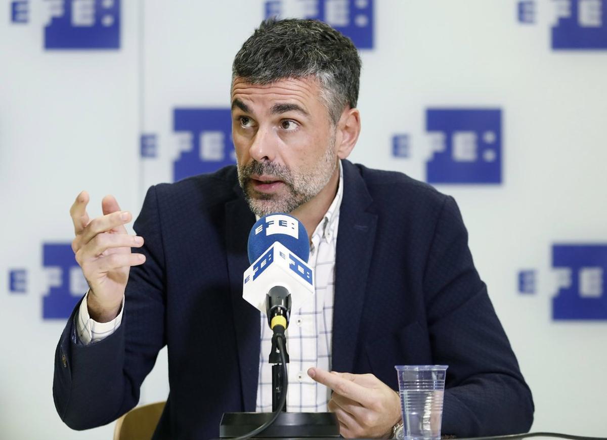 Santi Vila, durante la entrevista con la agencia Efe, este jueves.