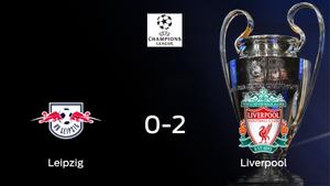 El Liverpool gana contra el RB Leipzig el encuentro de ida de octavos de final (0-2)