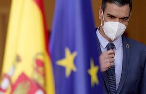 Comparecencia de Pedro Sánchez en Moncloa.