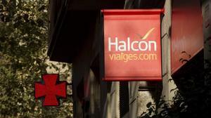 Una oficina de Viajes Halcón en Barcelona.