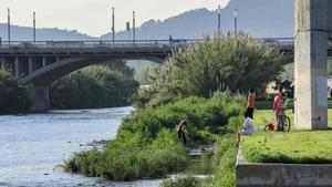El río Besòs a su paso por Santa Coloma de Gramenet.