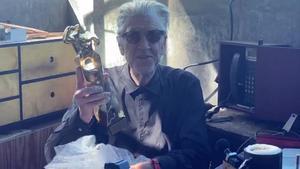 David Lynch, con su Gran Premio Honorífico del festival de Sitges.