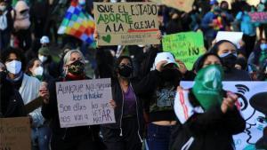 Protestas de mujeres en Ecuador.