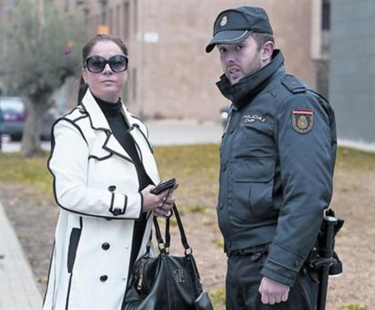 Alfonsa Reinoso, el pasado viernes, en la comisaría de la Verneda, en Barcelona.