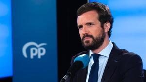 Pablo Casado, en la sede del PP, el pasado 14 de septiembre.
