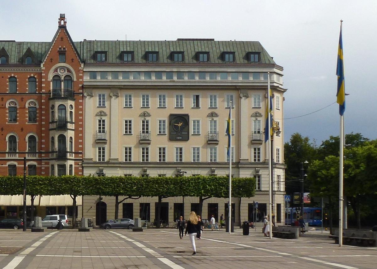 En este edificio de Estocolmo, en 1973, estaba la sucursal del Kreditbanken.
