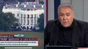 """La inesperada reacción de Ferreras al discurso de despedida de Trump: """"Seguramente no será verdad"""""""