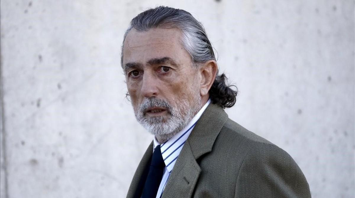 Francisco Correa, a su llegada a la Audiencia Nacional para acudir al juicio del 'caso Gürtel'.
