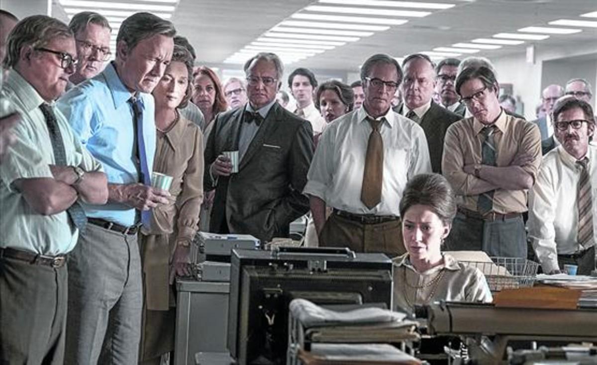 Fotograma 8Meryl Streep y Tom Hanks, en la cinta de Spielberg 'Los archivos del Pentágono'.