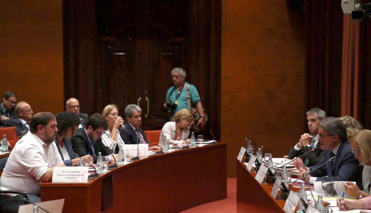 Artur Mas ante la Comisió Permanent.