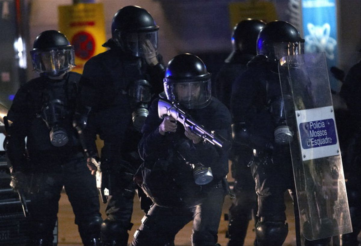 Imagen de archivo de un grupo de mossos