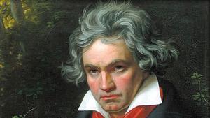 Detalle de un retratode Ludwig van Beethoven.