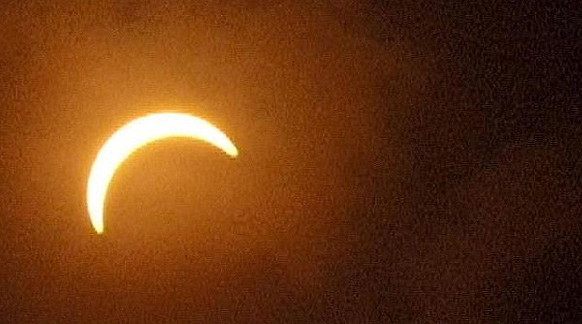 Misión Eclipse retransmitió el fenómeno astronómico, el martes.
