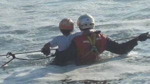 Rescate en el agua.