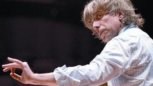 El director de orquesta Giovanni Antonini, durante un ensayo.