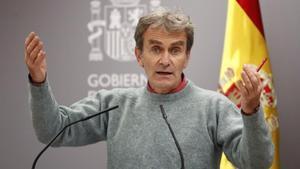 El director del Centro de Alertas y Emergencias Sanitarias, Fernando Simón, este jueves.