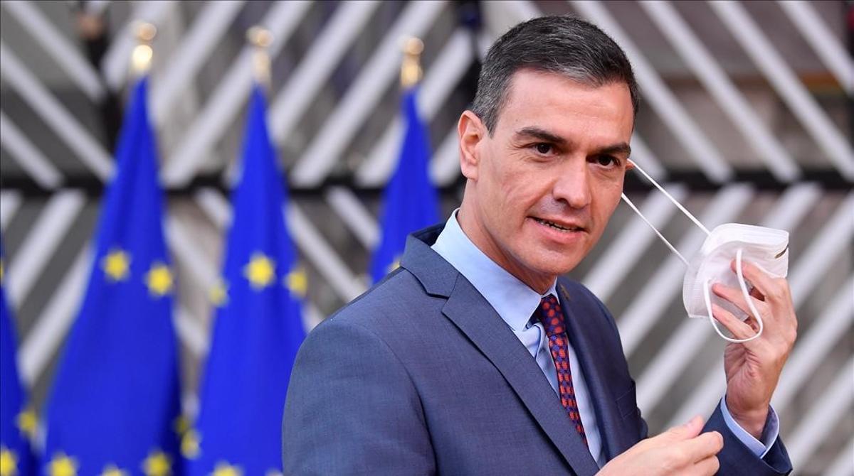 Pedro Sánchez, a su llegada a Bruselas, el pasado jueves.