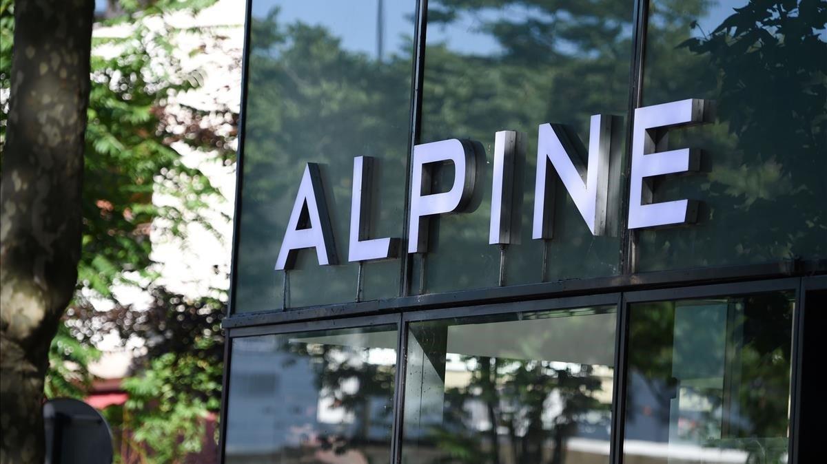 El logo de Alpine, el nuevo nombre para la F-1 de Renault.