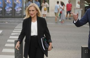 Cristina Cifuentes llega a la Audiencia Nacional.