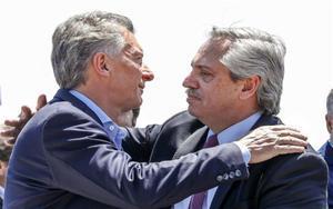 Alberto Fernádez, presidente electo de Argentina y Mauricio Macri.