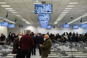 Vista de la sala especial en la que se seguirá el juicio a la 'Ndrangheta que arranca este miércoles en Calabria.